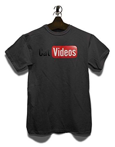 Cat Videos T-Shirt Grau