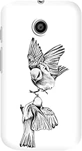 DailyObjects Birdies Love Mobile Case For Motorola Moto E