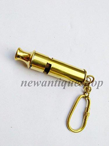 Humaira Nauticals Messing Whistle Schlüsselanhänger Sammlerstück Marine Whistle Schlüsselanhänger Nice Geschenk A (Marine Whistle)