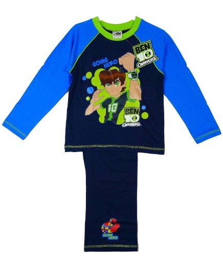 Image of Ben 10 Boy's Omiverse Going Hero Cotton Long Pyjama Set (4-5) Navy/Blue