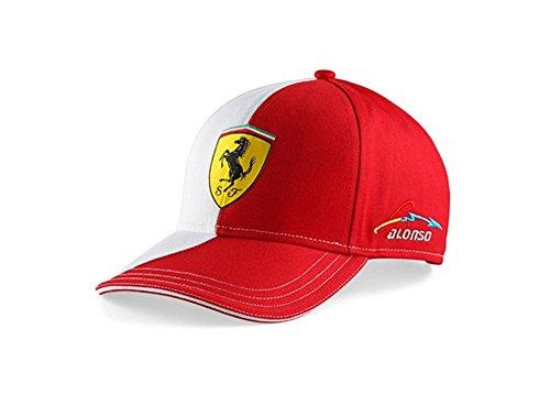 Ferrari Gorra Alonso Logo Rojo Única