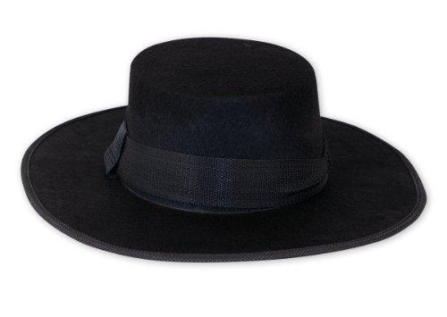V For Vendetta Deluxe Hut aus Filz, Einheitsgröße für Erwachsene (Vendetta Kostüm Deluxe)