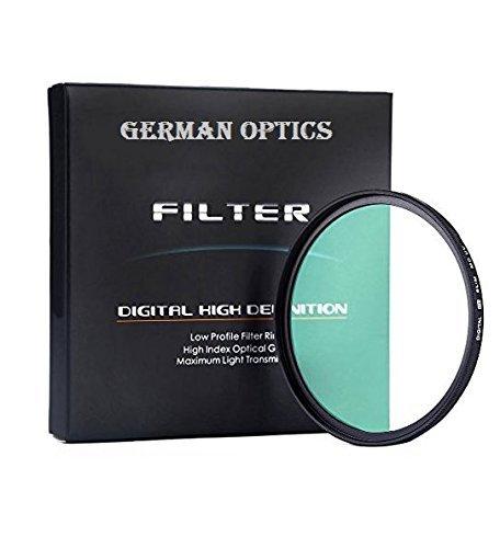 77mm GERMAN OPTICS Multi-Coated Slim MC - Filtro (Ultravioletti) Filtro per Canon, Nikon, Sony, Sigma, Fujifilm, Fuji, FUJINON, Pentax, Tamron, Tokina, Carl Zeiss Obiettivo (Diametro 72mm)