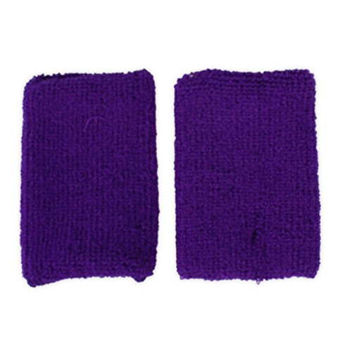 adam & eesa 1 Schweißband für Arm und Handgelenk Kräftige Farben Armschweißband, Wristband Purple, One Size (Unglaublichen Violett Halloween-kostüm)