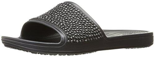 CROCS - SLOANE Embellished Slide black Black Multi