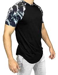 Camisetas Hombre Manga Corta,ZARLLE Hombres Casual Primavera Verano Imprimir Manga Corta O-Cuello