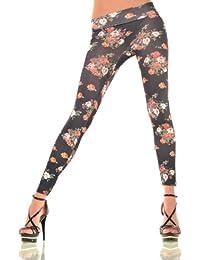 Balingi Damen Leggings mit Blumen Muster BA10190