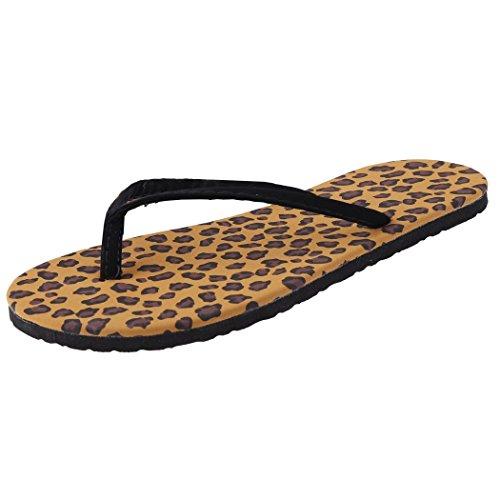 Minetom Infradito Donna Semplici alla Moda Scarpe da Casa Ciabatte Leopardo