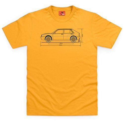 PistonHeads Delta Integrale Hatchback T-Shirt, Herren Gelb