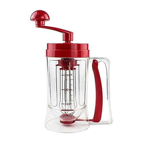 QSSM® Manual Pancake Mix Machine Batter Dispenser Perfect Cupcakes Waffles Muffins Cornbread Breakfast Mixer