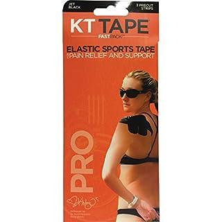 KT Tape Pro synthétique 3Bande Rapide Lot Bande de kinésiologie pré-découpée M Noir