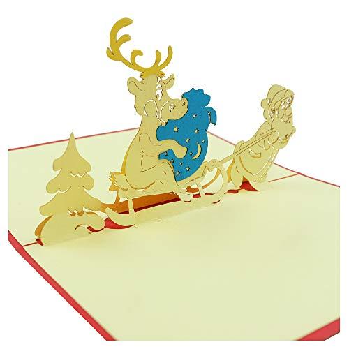 iger Weihnachtsmann - 3D Karte für Weihnachtskarten, Visitenkarten, Neujahrskarten, Glückwunschkarten ()