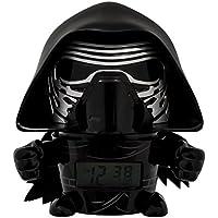 BulbBotz Despertador Infantil Kylo Ren, Negro, 8.89x12.7x13.97 cm