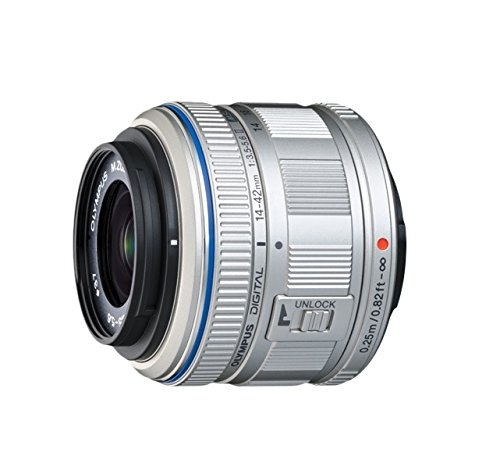 Olympus M.Zuiko Digital 14-42mm F3.5-5.6 II R Objektiv (Standardzoom, geeignet für alle MFT-Kameras, Olympus OM-D und PEN Modelle, Panasonic G-Serie) silber