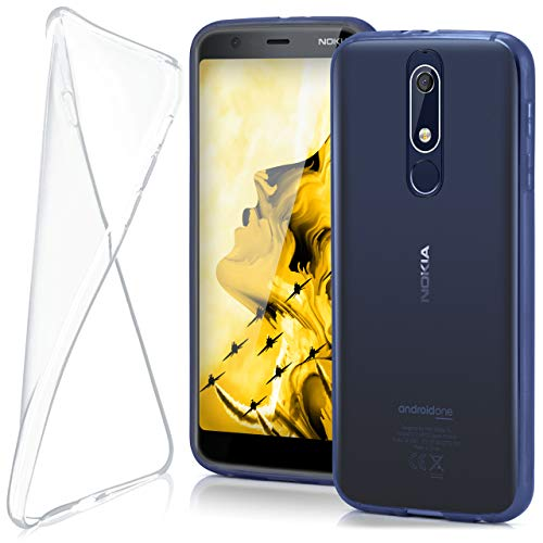 moex Nokia 5.1 | Hülle Silikon Transparent Klar Clear Back-Cover TPU Schutzhülle Dünn Handyhülle für Nokia 5.1 Case Ultra-Slim Silikonhülle Rückseite