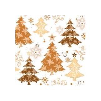 Ambiente 'Oro de árboles de Navidad servilletas Pack de 20
