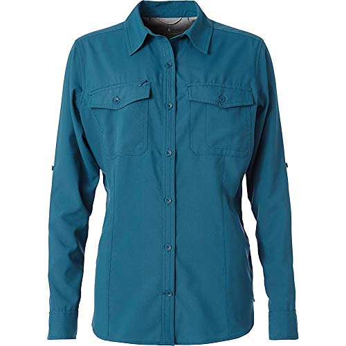 Royal Robbins Women's Expedition Dry Long Sleeve Top, Blue Coral, X-Large (Royal Robbins Expedition)