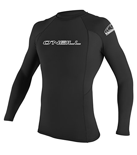 O'Neill Wetsuits Herren Basic Skins L/S Crew Rash Vest, Black, M -