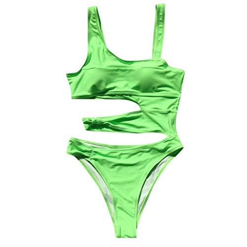 KEERADS Damen Einteiliger Badeanzug Schwimmanzug Monokini Gepolsterter Padded Bikini