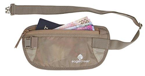 Eagle Creek Flache Bauchtasche Hüfttasche Undercover Money Belt Geldgürtel für Sport und Reisen Khaki