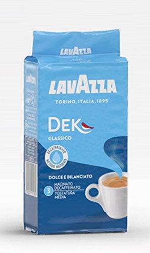 12x LAVAZZA DEK Entkoffeiniert Kaffee 250g gemahlen Italienisch espresso coffee