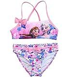 Frozen Bikini Die Eiskönigin Anna und ELSA Tankini (Bikini Fuchsia/Rosa, 110-116)
