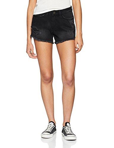 Noisy may Damen Shorts Onllive Love Trendy Stripe SS Oneck Noos, Schwarz (Black Black), 38 (Herstellergröße: M)