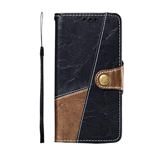 Für Samsung Galaxy S10E 5.8 Zoll Hülle, MuSheng Leder Slot Wallet Stand Flip Hülle Tasche Case Schutzhülle Handyhülle Protective Cover Anti-Kratzer Anti-Dropping für Samsung Galaxy S10E (Dunkelblau)
