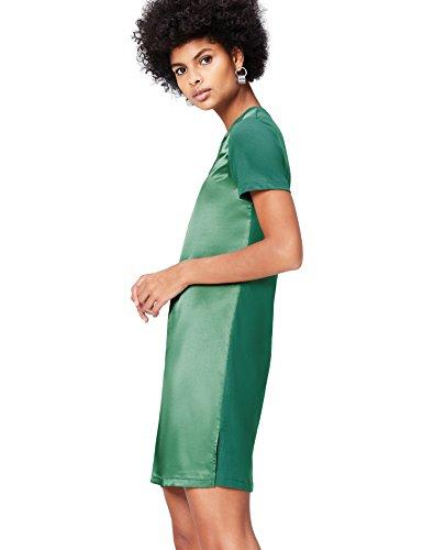 find. Kleid Damen T-Shirt-Design und mattglänzende Front, Grün (Khaki), 42 (Herstellergröße: X-Large) - Khaki T-shirt Kleid