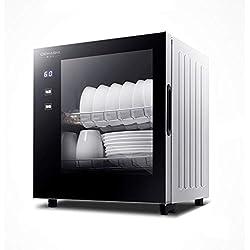Lave-Vaisselle Mini Armoire De Désinfection pour Serviettes Armoire De Désinfection Domestique Armoire De Stérilisation À Haute Température, Capacité 40L (Color : Black, Size : 43 * 36 * 44.5cm)