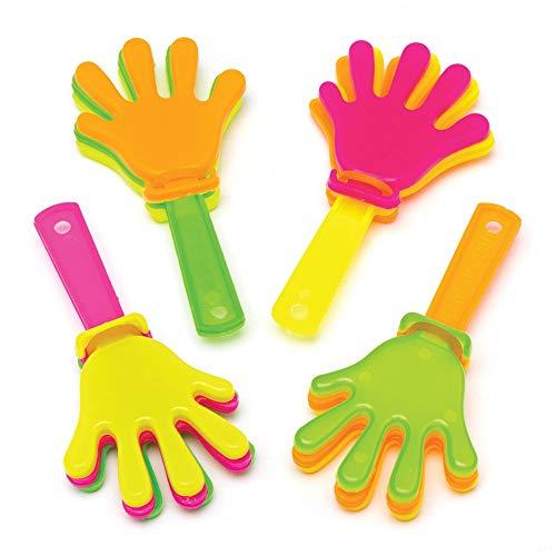 Baker Ross Mini-Klappern (4er-Pack) Perfekt für Kinder-Goodie-Bags, Halloween-Partyartikel, Pinata-Füller oder Geburtstagsgeschenke für Jungen / Mädchen