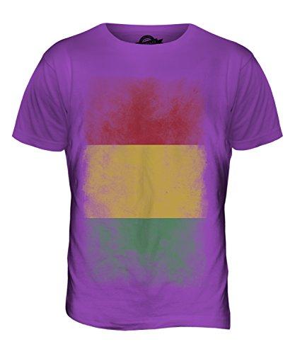 CandyMix Guinea Verblichen Flagge Herren T Shirt Violett