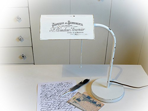 UNIKAT handmade Schreibtischleuchte Messing shabby 70er Jahre Tischleuchte