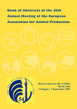 EAAP Book of Abstracts: No. 9 (European Association for Animal Production Book of Abstracts)