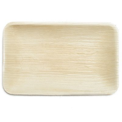 Leaf & Fiber 25 Count, Sustainable, Elegant Fallen Palm Leaf Plates, 12.5