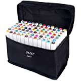 oleep 80 Color Art Sketch Touch Five Twin Pennarelli Broad Fine Point Graphic