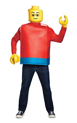 Lego Händen Kostüm - LEGO DIS14244 Kostüm, Herren, Classic, Einheitsgröße
