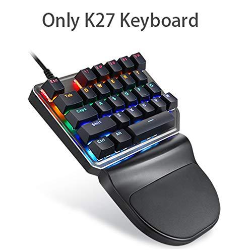 Kompakte Tastatur, kabellos, 2,4 G, mit Fernbedienung, optisch, kabellos, Gaming-Maus, für HTPC, Multimedia, Smart TV