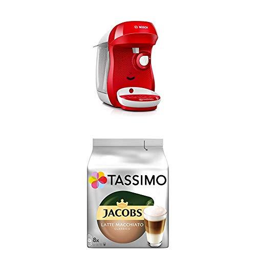 Bosch TAS1006 Tassimo Happy Kapselmaschine,1300 W, platzsparend, große Getränkevielfalt, bright...