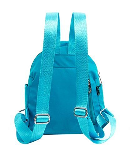 Keshi Nylon neuer Stil Damen accessories hohe Qualität Einfache Tasche Schultertasche Freizeitrucksack Tasche Rucksäcke Wasser-Blau