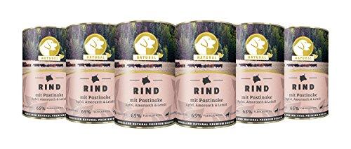 Hundeland Natural   Rind + Pastinake   6 x 400 g   getreidefreies Hundefutter   Nassfutter für alle Hunderassen   viel frisches Fleisch   artgerecht & besonders gut verträglich (Ente Geräucherter)