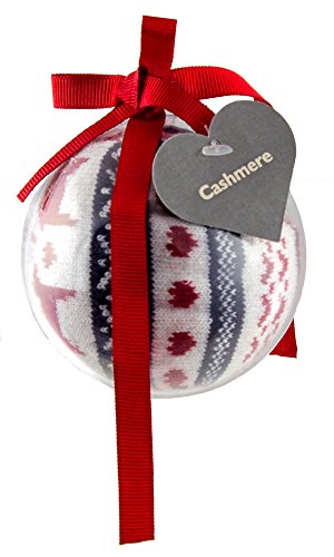 Preisvergleich Produktbild Brubaker Damen- oder Mädchensocke Kaschmir Touch in Weihnachtskugel Geschenkset One Size 36-41