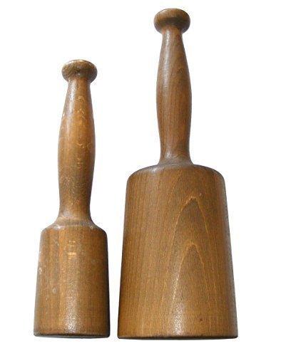 Juego de mazas de madera (dos unidades, 250 y 600 g)
