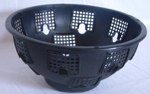 "Pack of 3 Large Easyfill hanging baskets 15"" Black"