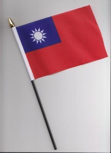 Drapeau de Taïwan à main 25 cm