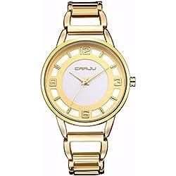 OUMOSI Woman Ultra-thin Quartz Watch Casual Female Wristwatches