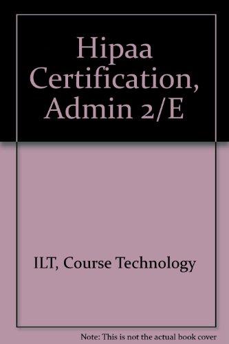 Hipaa Certification, Admin 2/E