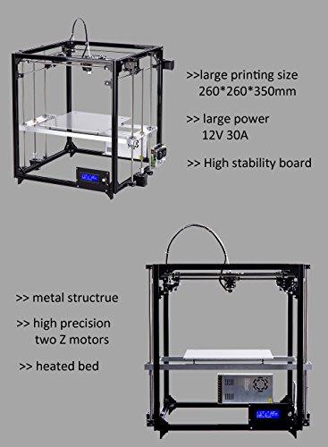 FLSUN 3d Drucker DIY Kit Square Full Metal Auto Nivellierung Druck Größe 260X260X350 mit Auto Level beheizte Bett Präzision - 3