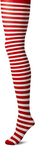LEG AVENUE 7100 - Blickdichte Ringel-Strümpfhose Kostüm Damen - Halloween Leggings