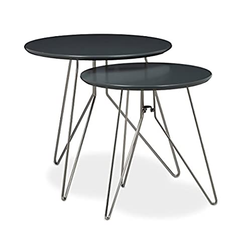 Table Basse Metal - Relaxdays Table console table d'appoint canapé table